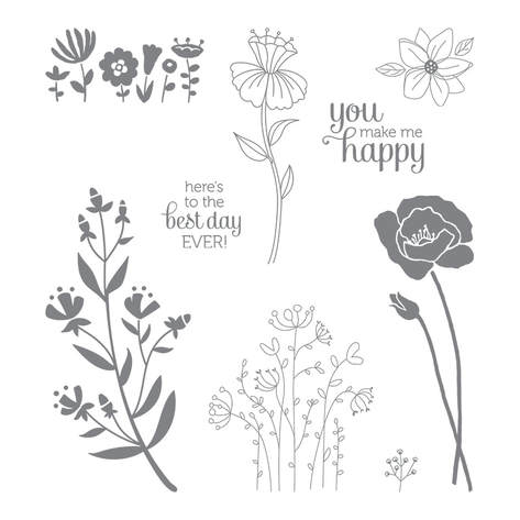 The Flirty Flowers Stamp Set is perfect for spring crafting. Making Memories with Michelle. Stampin' Up! © 2018