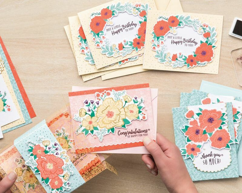 The Made to Bloom All-Inclusive Card Kit  is Sweet & Simple and perfect for all levels of crafters. Video tutorial can be found on my blog.
