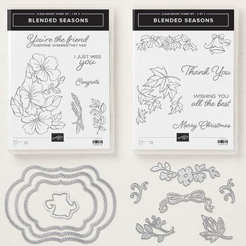 The Blended Seasons Bundle is available while supplies last through 8/31. Get yours today and receive a free 4-card exclusive tutorial. www.MakingMemorieswithMichelle.com Stampin' Up! ©