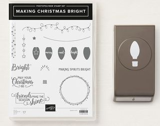www.MakingMemorieswithMichelle.com Product of the week 10/15/18 Making Christmas Bright Bundle. Stampin' Up! © 2018