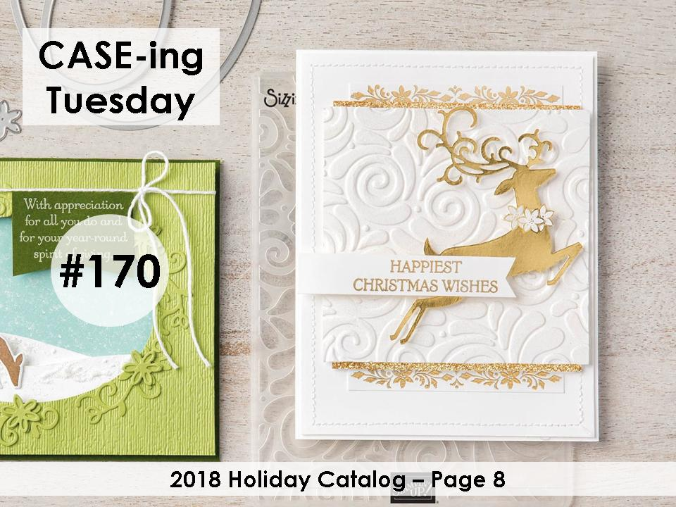 www.MakingMemorieswithMichelle.com Dashing Deer. #CaseingTuesday170 Stampin' Up! © 2018