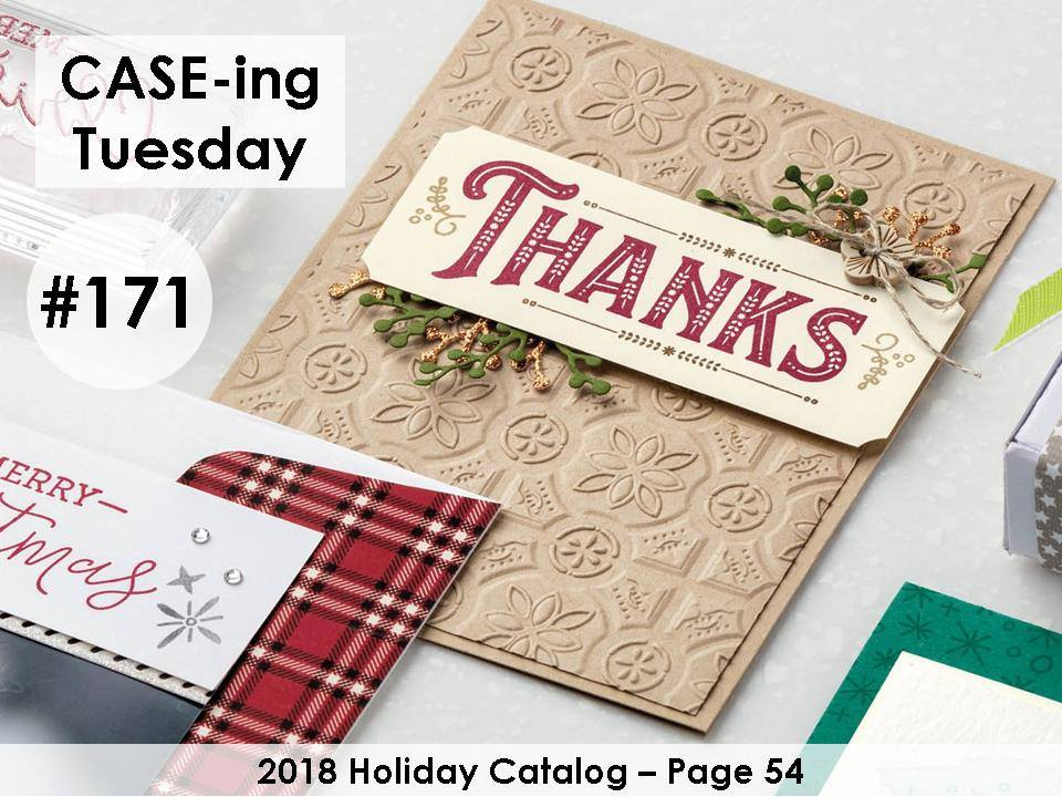 www.MakingMemorieswithMichelle.com #CaseingTuesday171 Images © 2018 Stampin' Up!®