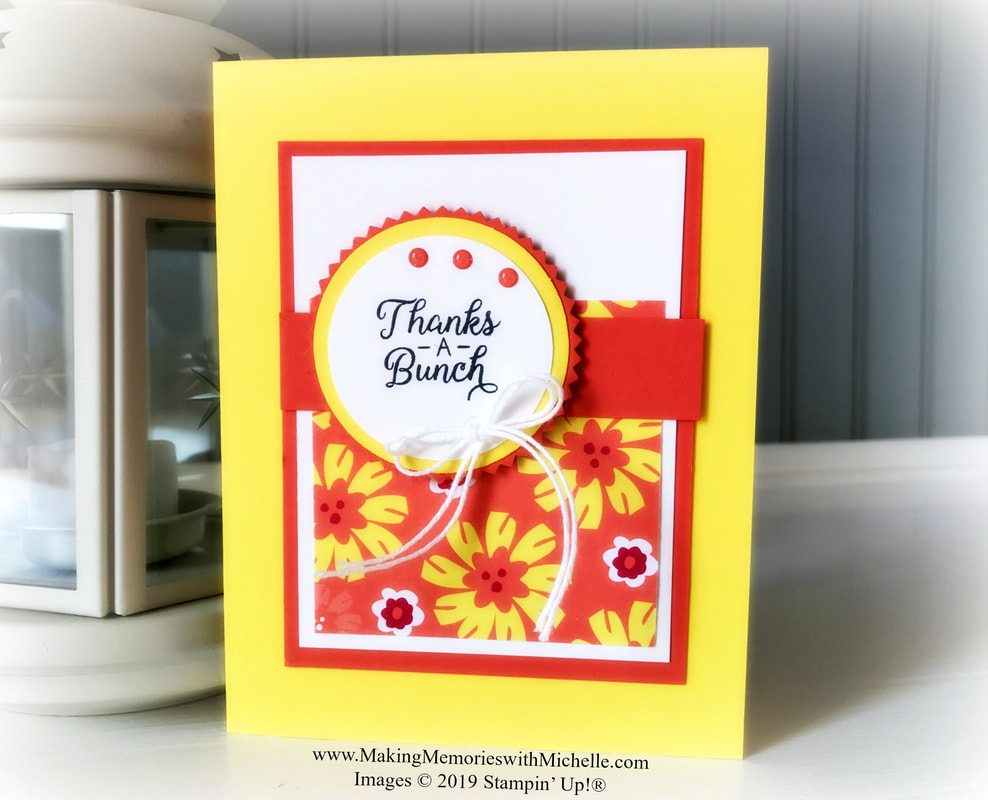 www.MakingMemorieswithMichelle.com Happiness Blooms & Beautiful Bouquet. #SimpleStamping #Thankyou #CaseingTuesday187