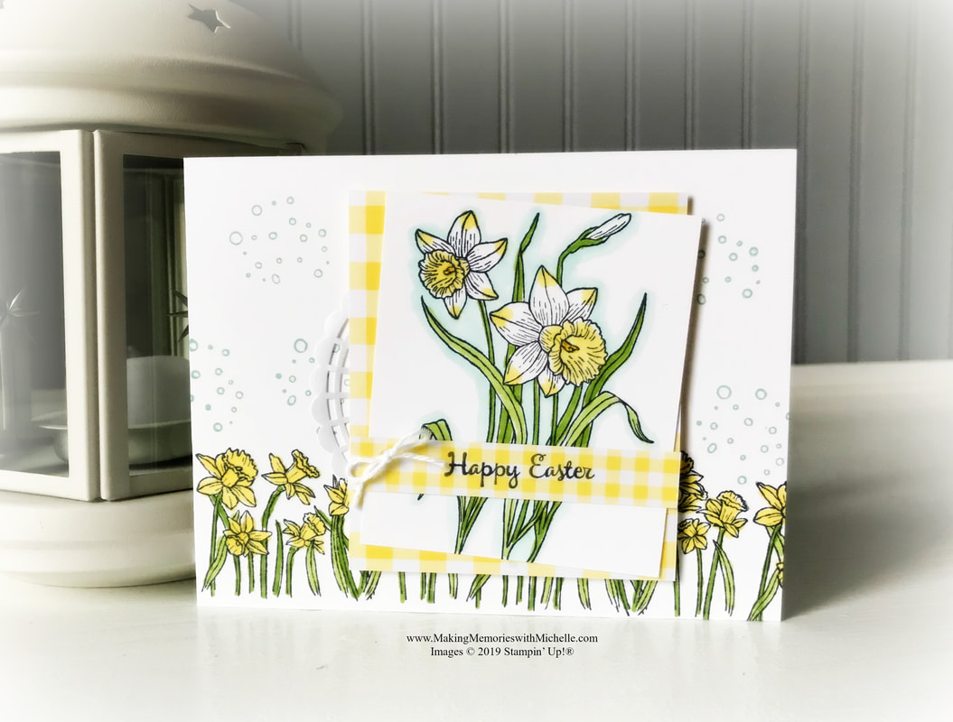 www.MakingMemorieswithMichelle.com You're Inspiring. #CASEIngTuesday194 #StampinUp #SUDemo #EasterCard #EasterCrafts #Crafts #Crafting #PaperCrafts #PaperCrafting #CardMaking #HandmadeCard #Stamping #BlendsMarkers #GinghamGala #MakingMemorieswithMichelle