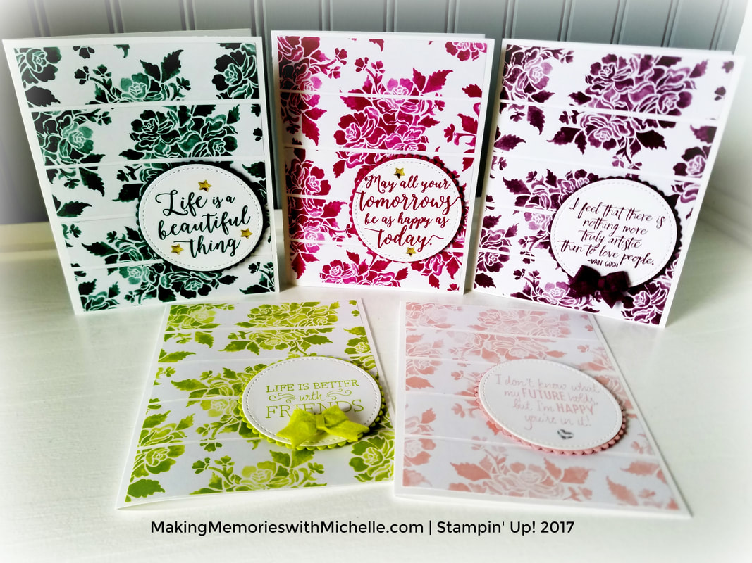 www.MakingMemorieswithMichelle.com  Retiring 2017-2018 In Colors.  #StampinUp #SUDemo #InColors #Retiring  #MakingMemorieswithMichelle