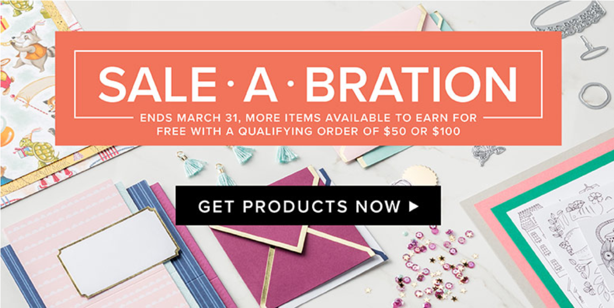 New Sale-a-Bration items were added today! Earn yours today. Making Memories with Michelle. Shop my store: www.michelleirinyi.stampinup.net