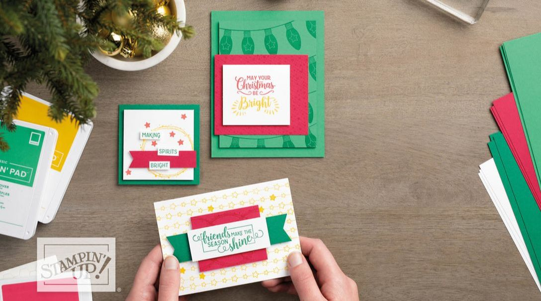 www.MakingMemorieswithMichelle.com  Sweet & Simple Sunday 10/14.  Making Christmas Bright.  In person in my studio, or get your kit to go.  Michelle@MakingMemorieswithMichelle.com  Stampin' Up! © 2018
