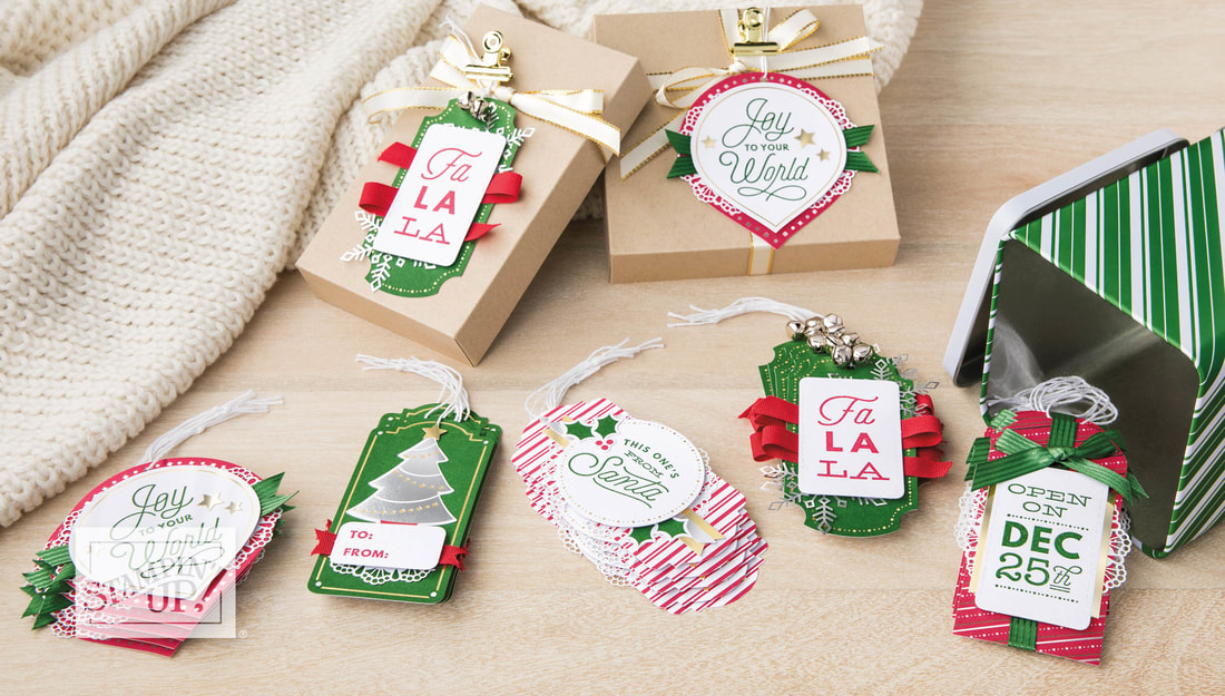 www.MakingMemorieswithMichelle.com  Sincerely Santa Gift Tags.  Stampin' Up! © 2018