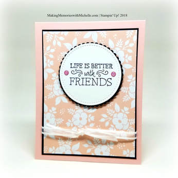 Stamping Bee Color Challenge: Powder Pink and Whole Lot of Lovely