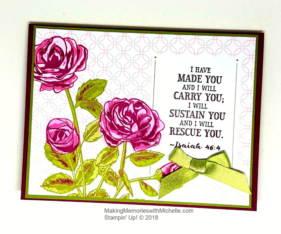Petal Garden & Hold on to Hope. Making Memories with Michelle. Stampin' Up! © 2018