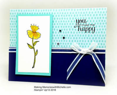 Flirty Flowers and Tutti Frutti Sale-a-Bration Card Bases. Making Memories with Michelle. Stampin' Up! © 2018