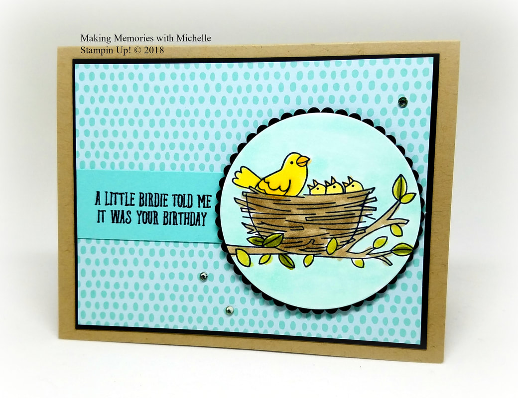 CASE-ing Tuesday #139.  Bird Banter meets Flying Home.  Making Memories with Michelle.  Stampin' Up! © 2018