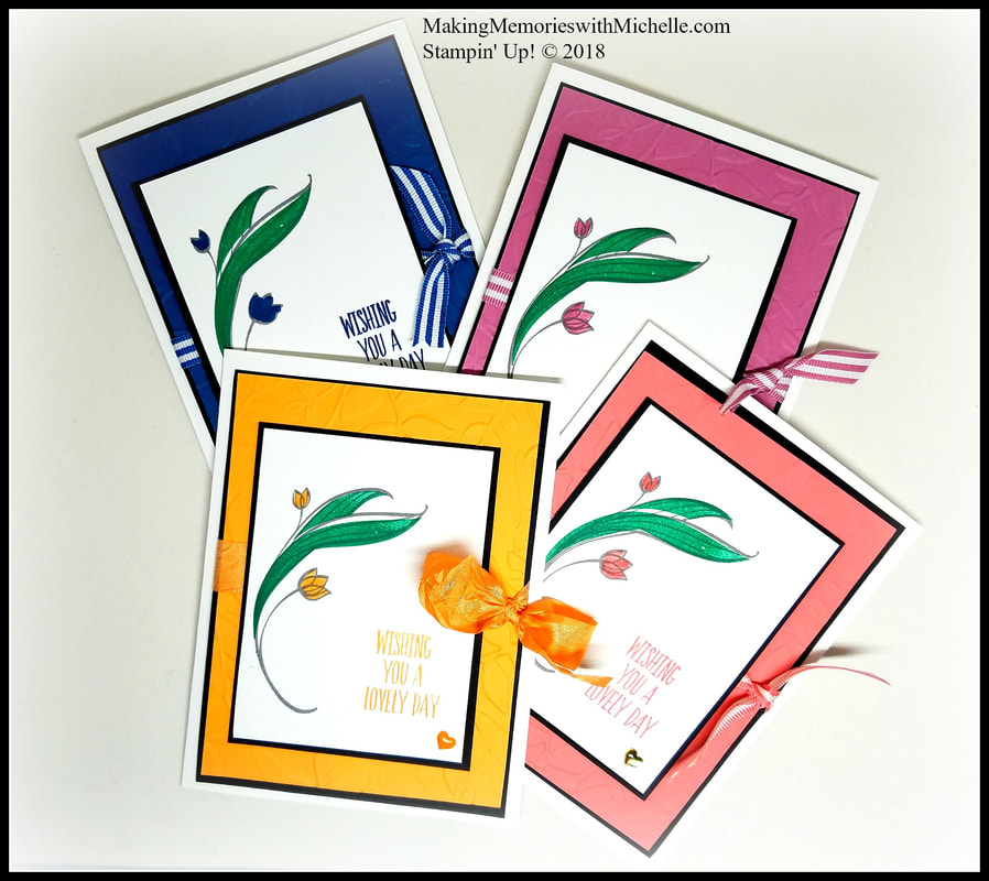 The 2016-2018 In Colors are retiring this spring. Which will you miss most? Making Memories with Michelle. Stampin' Up! © 2018