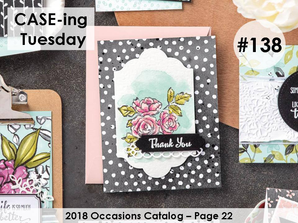 CASE-ing Tuesday #138. Petal Palette and Water Coloring with Stampin' Write Markers. Making Memories with Michelle. Stampin' Up! © 2018