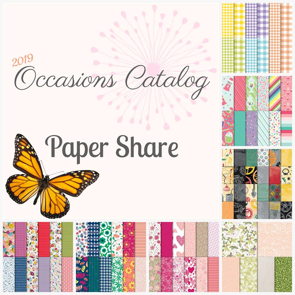 1/4 pack of all Occasions Designer Series Paper PLUS coordinating card bases. Deadline to reserve your share and pay is 1/10/19