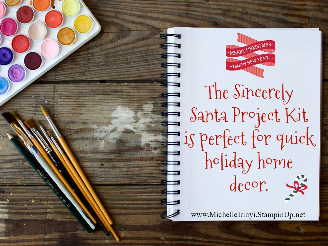 www.MakingMemorieswithMichelle.com  Friday Tips & Tricks.  Sincerely Santa Project Kit.
