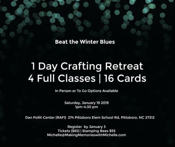 www.MakingMemorieswithMichelle.com Winter Retreat in a Box! 16-Cards all from the new Occasions and Sale-a-Bration catalogs. Register by 1/3.