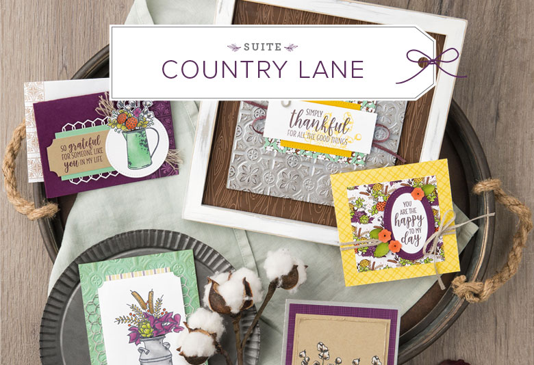 www.MakingMemorieswithMichelle.com Crafty Saturday 9/8 featured the Country Lane Suite of Products. Stampin' Up! © 2018