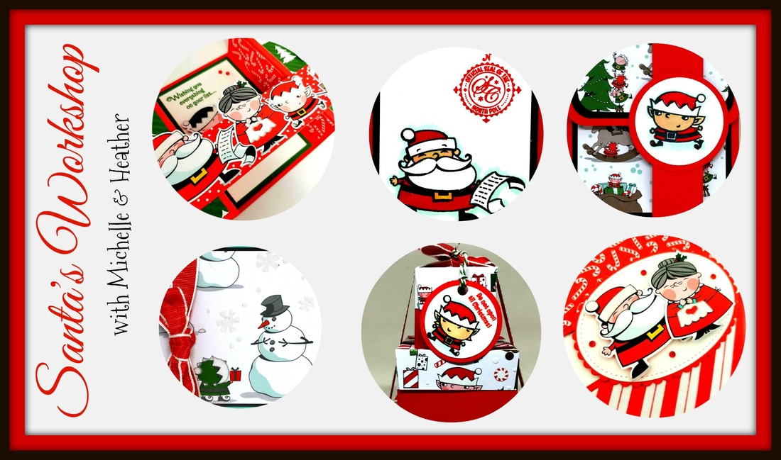 www.MakingMemorieswithMichelle.com I've partnered with my talented and good friend Heather Tyman from The Faithful Stamper to bring you TWO awesome online classes! Choose one or both and get a free tutorial! Each class includes the paper and embellishments you need, and you can add on the Signs of Santa bundle if you choose! Join the fun with us! Visit https://www.makingmemorieswithmichelle.com/santas-workshop.html to learn more. All images Stampin' Up! © 2018