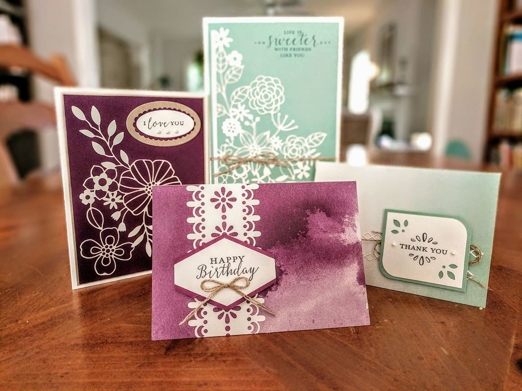 June 23 - 16-Card Extravaganza! Register by 6/15! Available in Person or To Go! wwwmakingmemorieswithMichelle.com Stampin' Up! © 2018