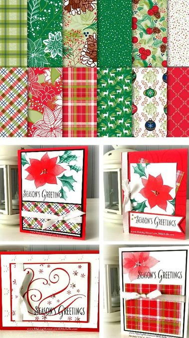 Stylish Christmas & Under the Mistletoe Designer Series Paper. Part of my Christmas In August Retreat Stamp-a-Stack. www.MakingMemorieswithMichelle.com Stampin' Up! © 2018