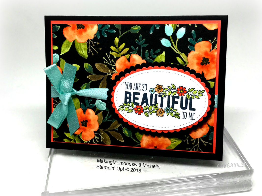 The Whole Lot of Lovely Paper is retiring ...and almost gone! Making Memories with Michelle. Stampin' Up! © 2018
