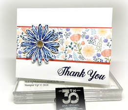 So glad the Delightful Daisy Stamp Set and Punch will be in the 2018 catalog. Making Memories with Michelle. Stampin' Up! © 2018