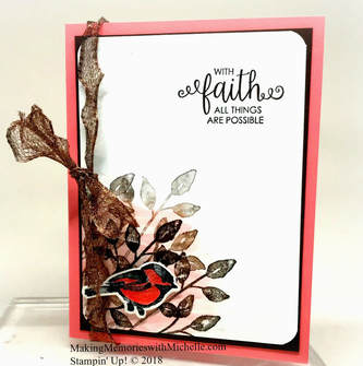 PicturePetal Passion and Ribbon of Courage.  Making Memories with Michelle. Stampin' Up! © 2018