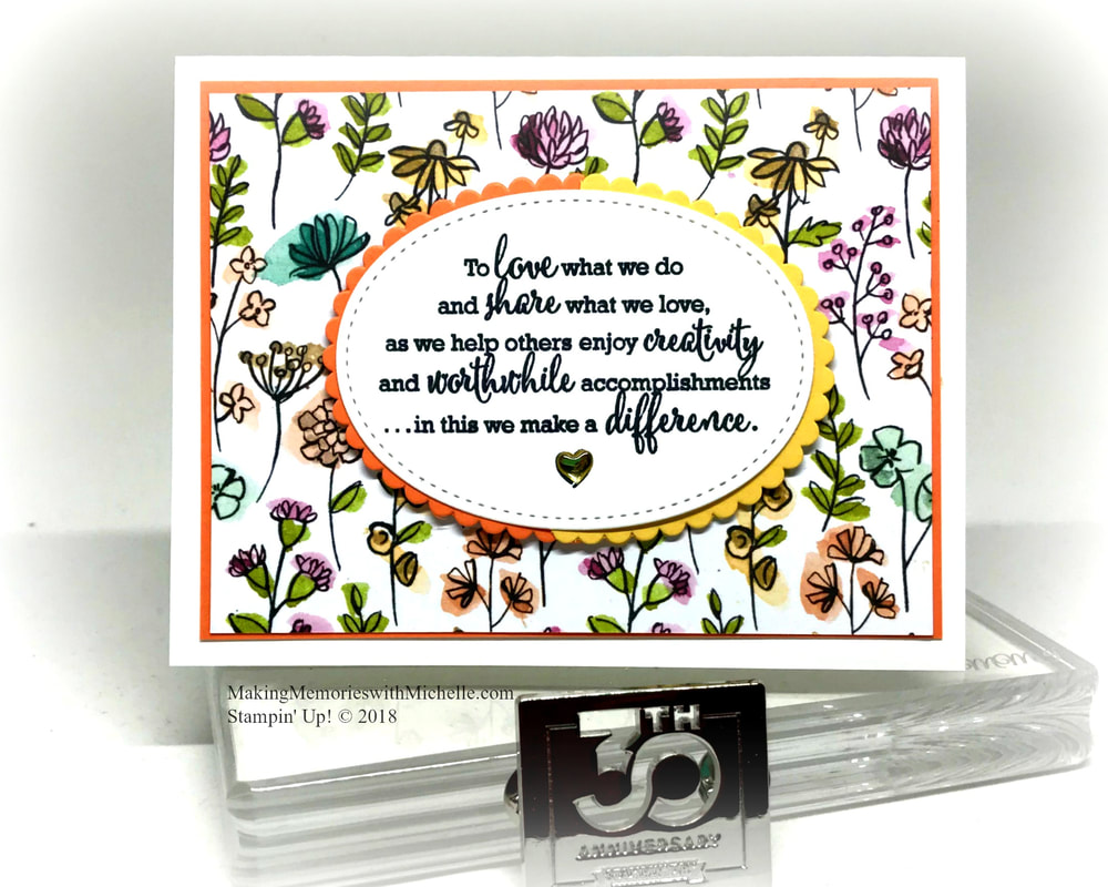 The Statement of My Heart stamp is only available as part of the Share What You Love Gotta Have it All bundle. And then, only until 5/31. MakingMemorieswithMichelle.com Stampin' Up! © 2018