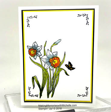 A picture is worth a thousand words. You're Inspiring and Hold On To Hope team up for a lovely spring card. www.makingmemorieswithmichelle.com Stampin' Up! © 2018