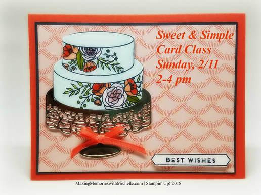 Sweet & Simple Card Class Invitation