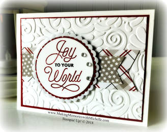 www.MakingMemorieswithMichelle.com The fun texture of the Swirls and Curls Textured Impressions Embossing Folder, and voila, it goes from