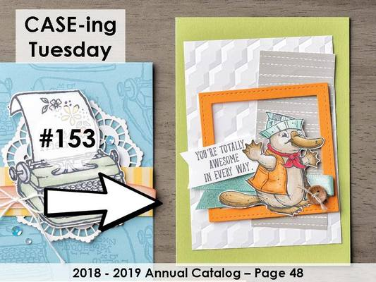 #CASEingTuesday153. Stampin' Up! ©