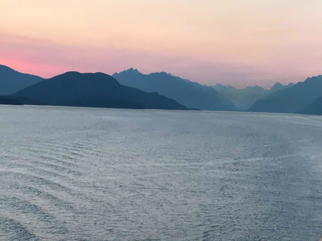 Sunset over Skagway, Alaska. #SUAlaska2018  www.MakingMemorieswithMichelle.com