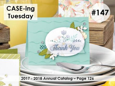 CASE-ing Tuesday #147. Making Memories with Michelle. Stampin' Up! © 2018
