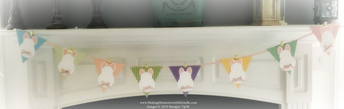 www.MakingMemorieswithMichelle.com Crafty Saturday Video - Quick Tips on making a Bunny Banner.