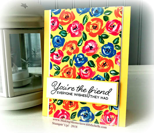 Blended Seasons & Garden Impressions - the perfect pair! www.MakingMemorieswithMichelle.com Stampin' Up! © 2018