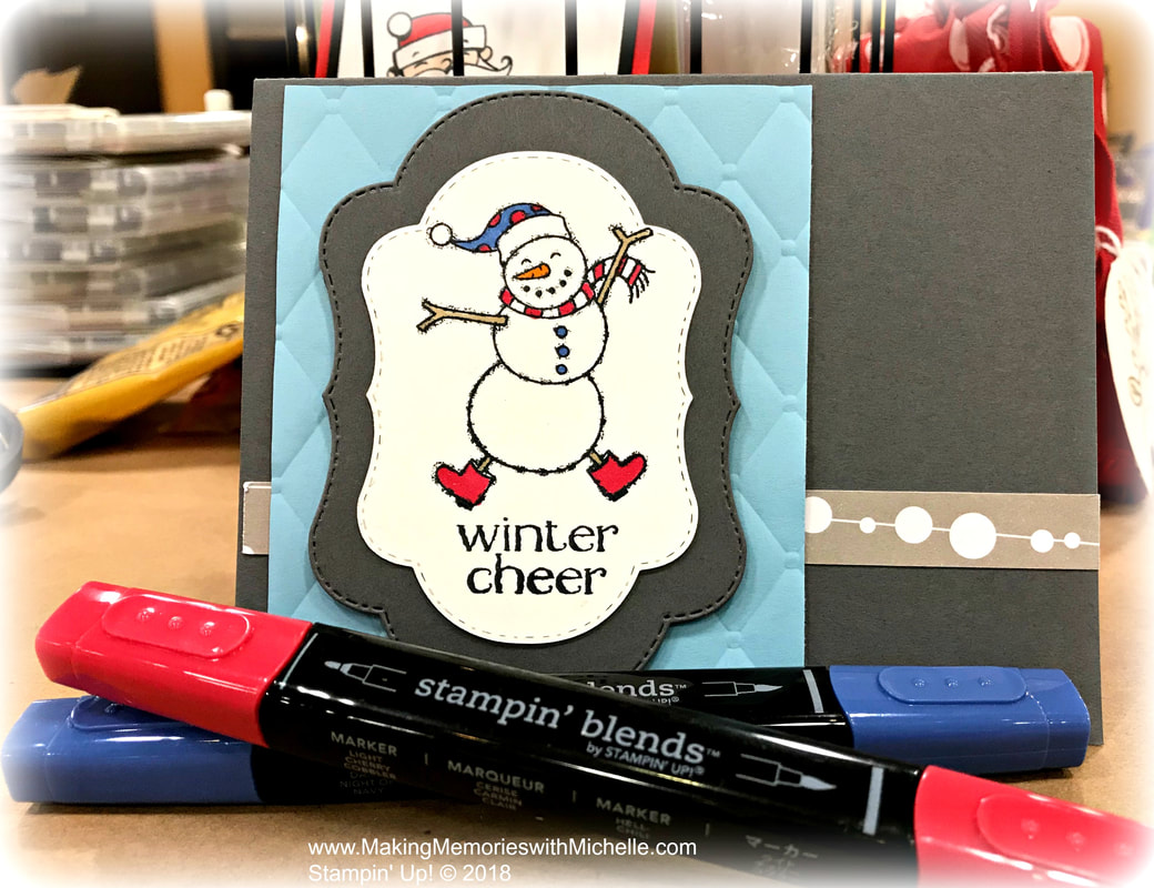Creative Inking Blog Hop: The Spirited Snowman Stamp Set is available starting September 5th. www.MakingMemorieswithMichelle.com Stampin' Up! © 2018