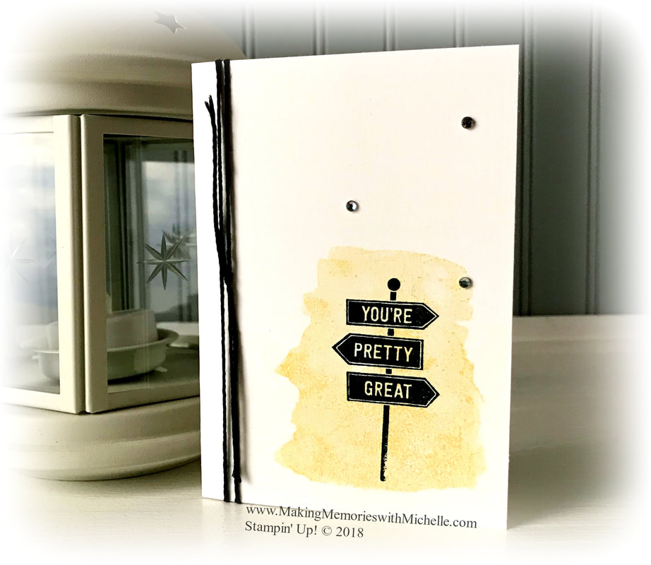 A Sweet & Simple Card using the En Route and Love What You Do Stamp Sets. www.MakingMemorieswithMichelle.com Stampin' Up! © 2018