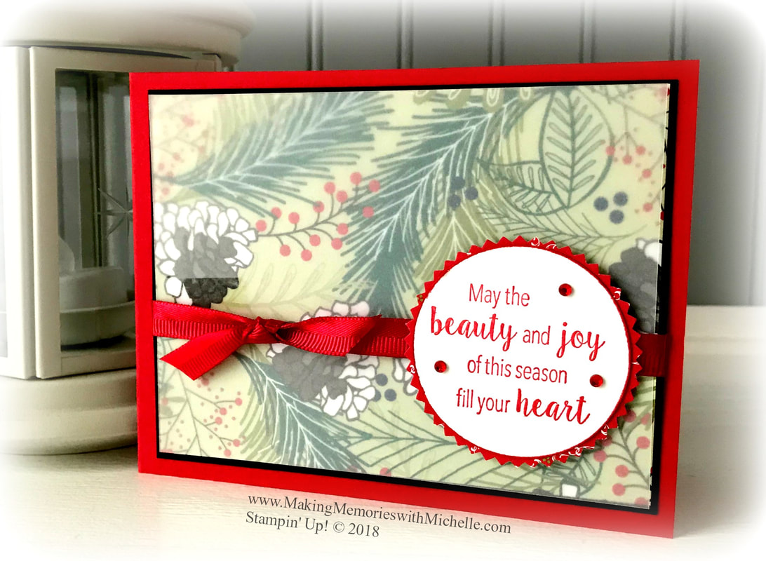 Stylish Christmas & Under the Mistletoe - a classic combination for the holidays. www.MakingMemorieswithMichelle.com Stampin' Up! © 2018