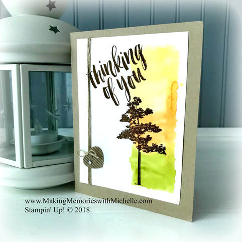 www.MakingMemorieswithMichelle.com Product of the Week August 26: Rooted in Nature. Video tutorial on my blog. Stampin' Up! © 2018