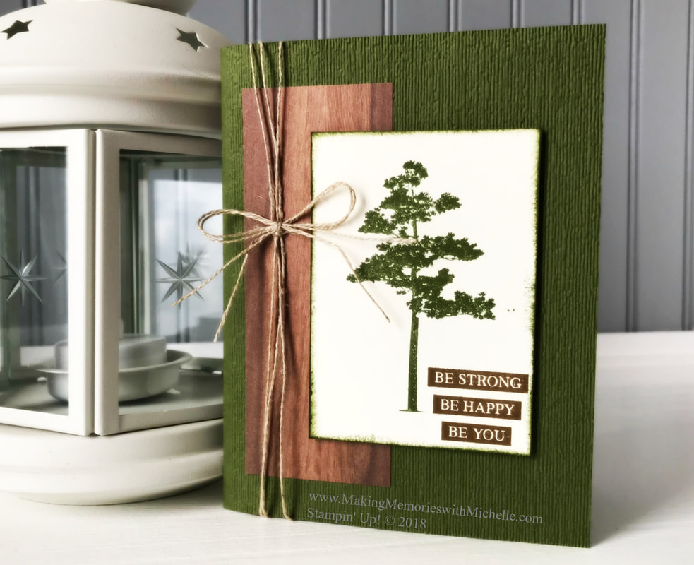 www.MakingMemorieswithMichelle. Rooted In Nature. #CASEingTuesday162 Stampin' Up © 2018
