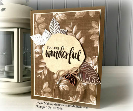 www.MakingMemorieswithMichelle.com Tip of the Week: Use leftover die cuts to decorate the inside of your card! Rooted in Nature. Stampin' Up! © 2018