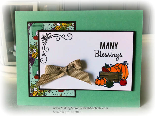 www.MakingMemorieswithMichelle.com Product of the Week: Many Blessings. Stampin' Up! © 2018