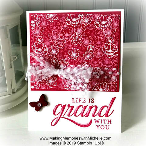 www.MakingMemorieswithMichelle.com Life is Grand #SimpleStamping
