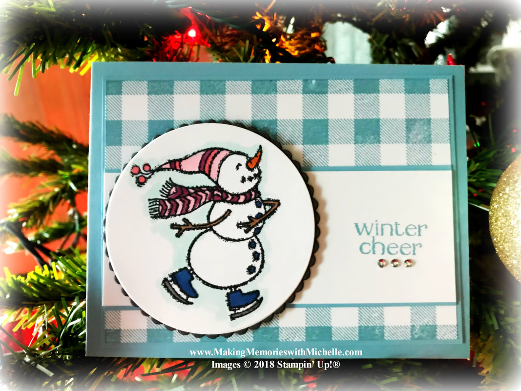 www.MakingMemorieswithMichelle.com  Spirited Snowmen...The tree is up...and the mantle is decorated. It may be almost 70 degrees today, but I'm dreaming of a White Christmas.