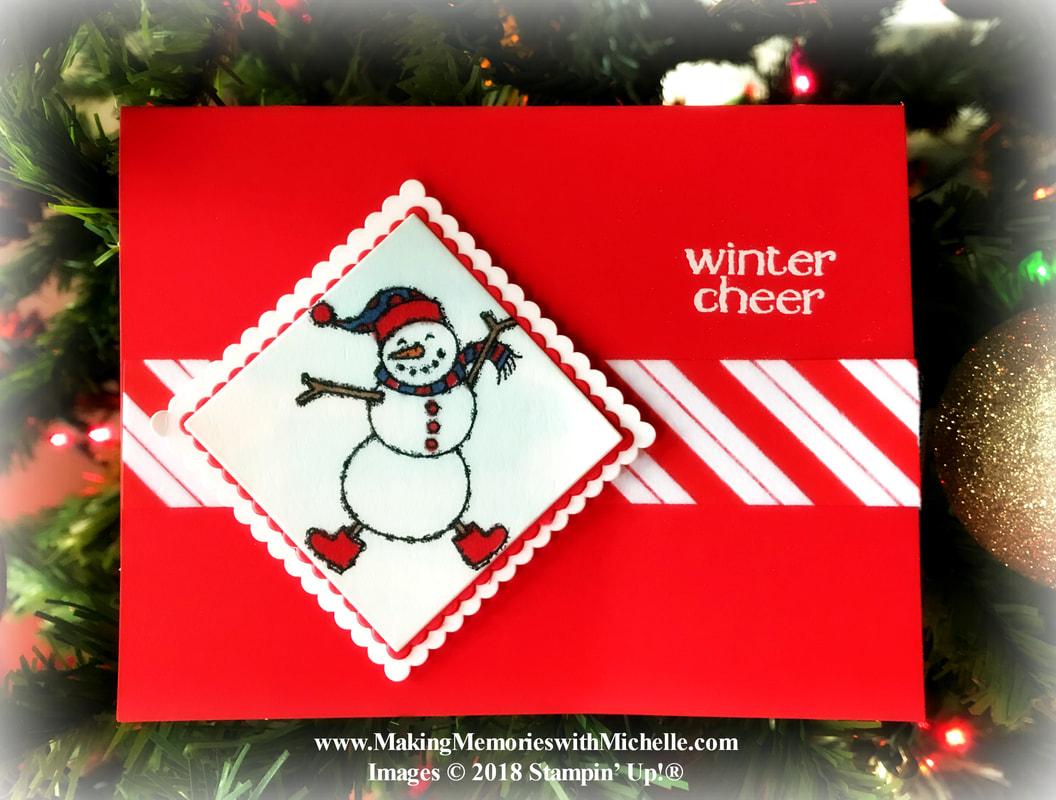 www.MakingMemorieswithMichelle.com Spirited Snowmen & Santa's Workshop Designer Series Paper.