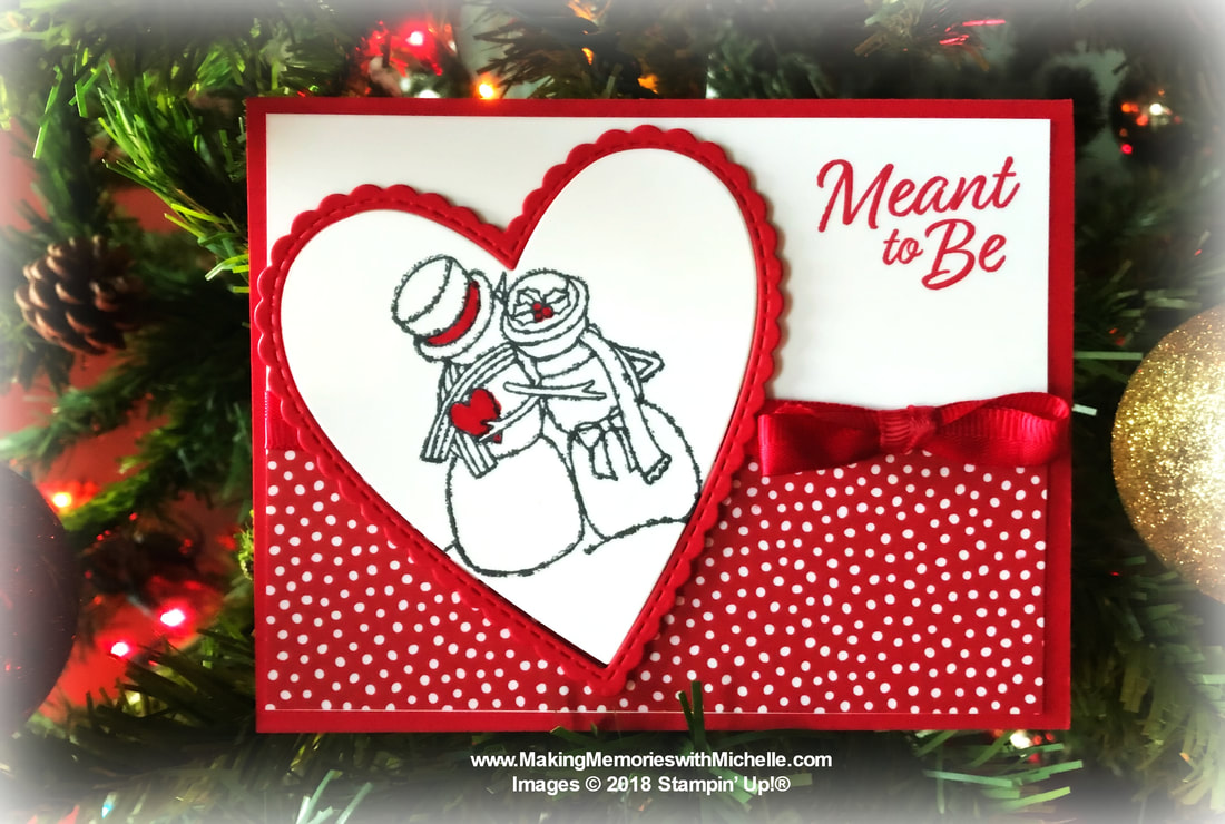 www.MakingMemorieswithMichelle.com Spirited Snowmen and the Meant to Be Bundle from the Occasions 2019 catalog. #SimpleStamping Get a head start on Stampin' Up! products and SAVE when you purchase the $99 Starter Kit.