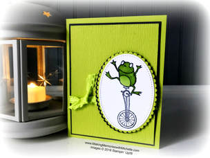 """www.MakingMemorieswithMichelle.com Today I shared some helpful hints and tips for using the new Cling Stamps, and made a Sweet & Simple Card using the Sale-a-Bration stamp set, """"So Hoppy""""."""