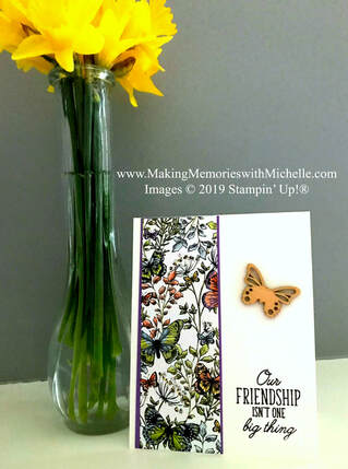 www.MakingMemorieswithMichelle.com Beauty Abounds with Botanical Butterflies Designer Series Paper and Butterfly Elements